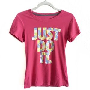 Nike Just Do It Pink Short-Sleeve T-Shirt Small